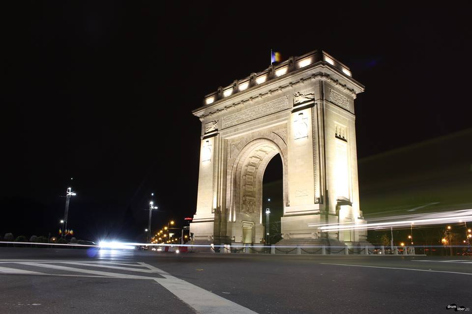 Arc de Triomphe Bucharest (night)